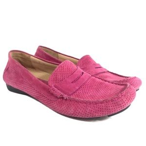 Vaneli Pink Suede Leather Driving Loafer 7
